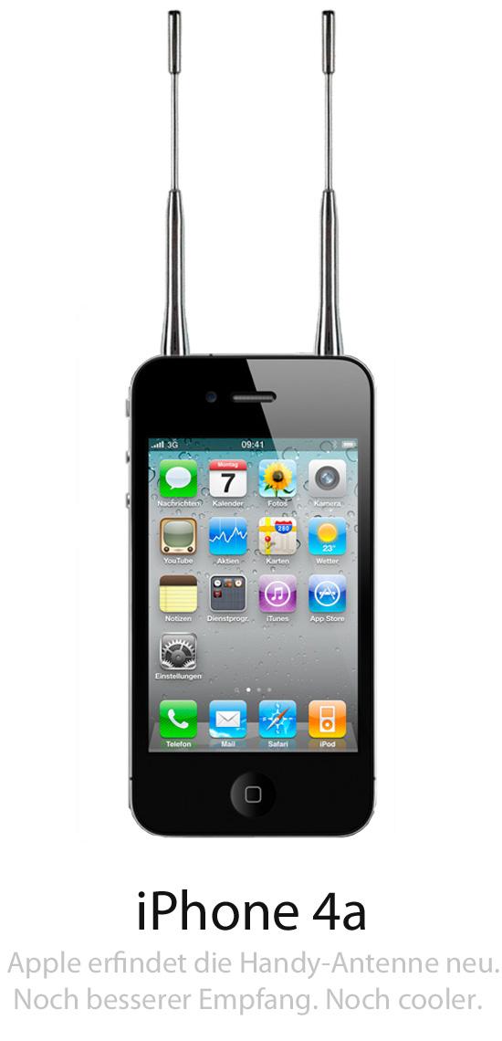 iPhone4a mit empfangsstarken Antennen.