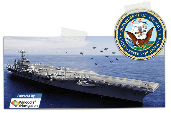 Navy-USS Abraham Lincoln powered by Windoofs-Navigation